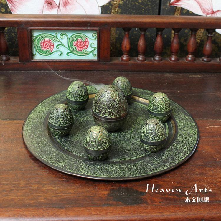 印度铜制雕花香具