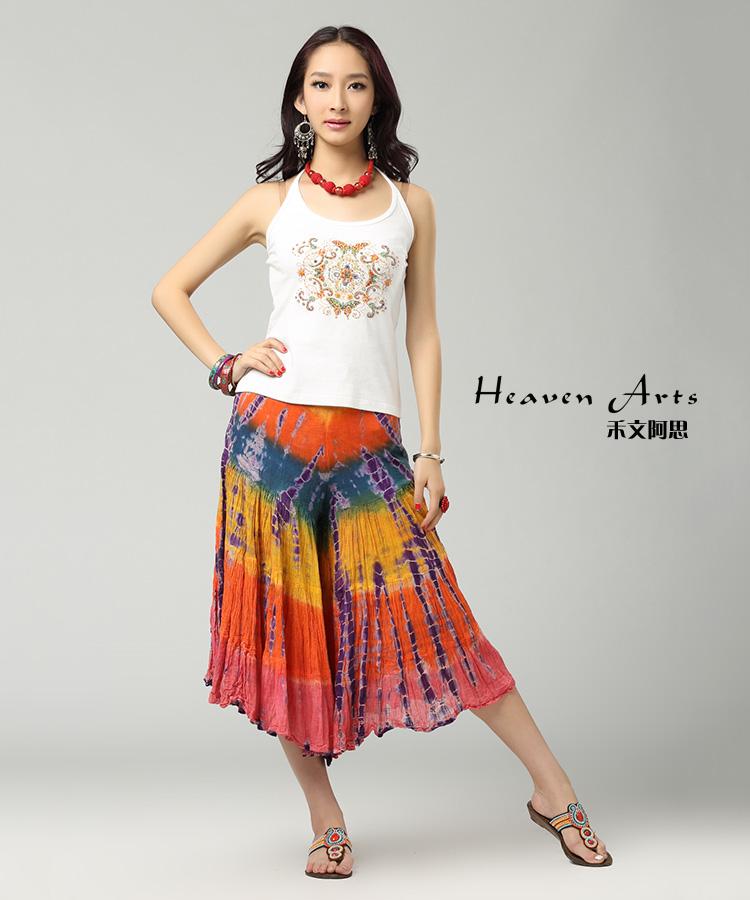 阔腿裙服装结构图