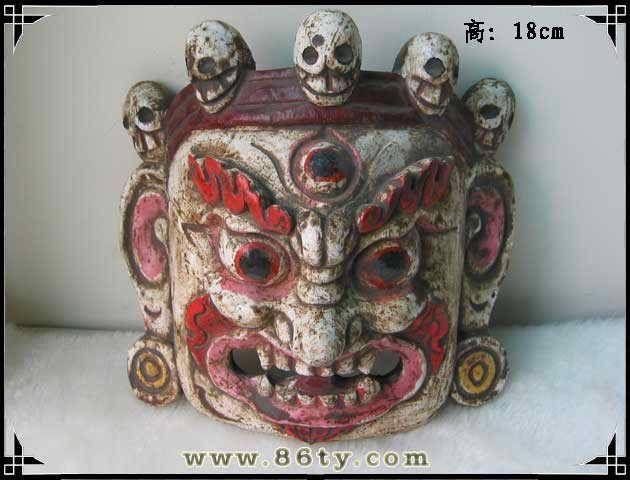 手工木雕面具