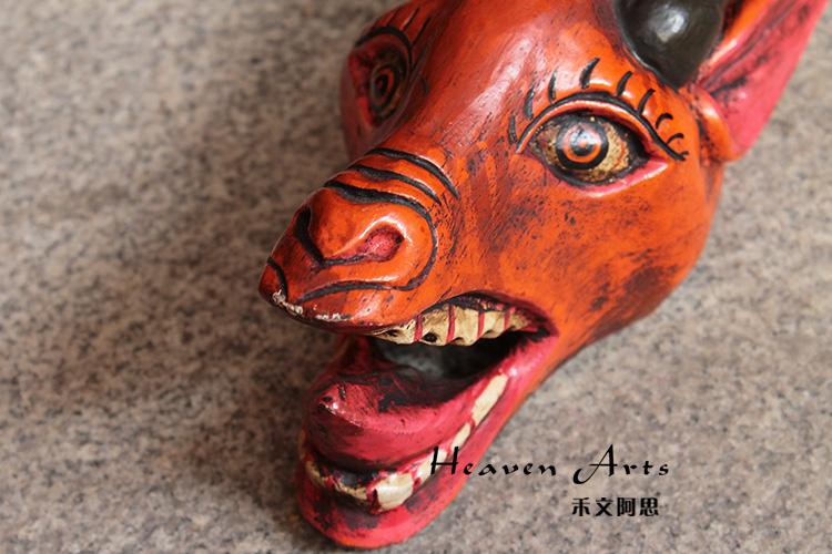 菩提木彩绘面具 羊