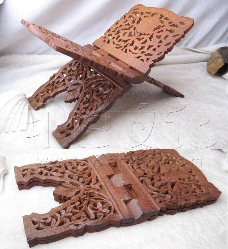 印度酸枝木雕花书架