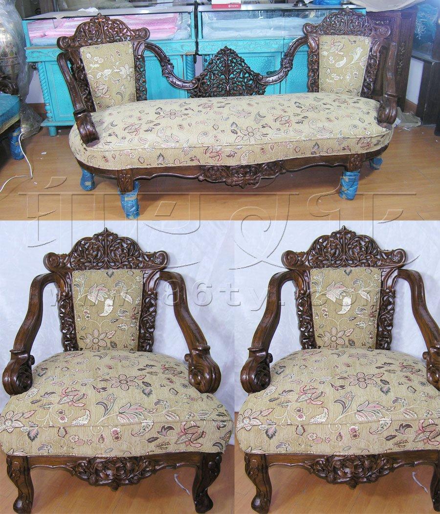 印度手工柚木沙发(套)